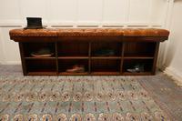 Long Mahogany Chesterfield Hall Seat Shoe Tidy (7 of 8)