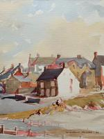 Original Vintage North Wales Coastal Village Landscape Watercolour Painting (5 of 12)