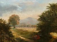 19thc British School - Travellers at Rest - Stunning Landscape Oil Painting (5 of 12)