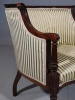 Finely Carved Edwardian Salon or Tub Chair (3 of 5)
