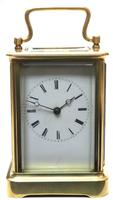 Large Classic Antique French 8-day Bell Striking Carriage Clock c.1880