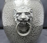 Liberty & Co Tudric Pewter Biscuit Jar, Number 01065, Lion Handles c.1910 (3 of 8)