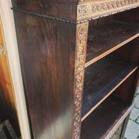 Carved Oak Adjustable Bookcase (8 of 12)
