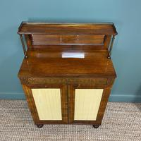 Stunning Warm Rosewood Antique Cabinet with Brass Inlay (8 of 11)