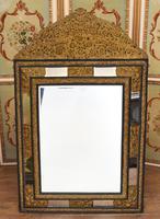 Antique French Cushion Mirror Metal Mounts Circa 1880 (11 of 11)