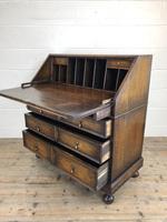 Early 20th Century Antique Oak Geometric Bureau (M-1657) (10 of 17)