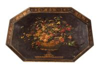Late 18th Century Painted Octagonal Papier-Mâché Tray (4 of 4)