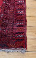 Handmade Bokhara wool rug vibrant red ground (3 of 11)
