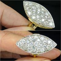 Stunning Vintage 18ct Gold Marquise Diamond Cluster Ring 1.65ct ~ With Independent Appraisal / Valuation (6 of 10)