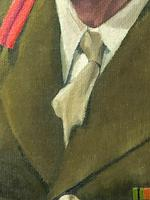 Fine 20th Century Portrait Oil Painting Military Officer British Army 2nd Signal Regiment (7 of 12)