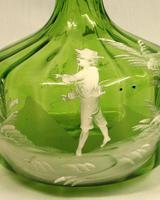 Antique Mary Gregory Green Glass Decanter (4 of 6)