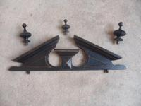 Trendy Victorian Black 1 Piece 1 Door Antique Pine Hall / Child's Wardrobe (12 of 12)