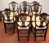 1960's Mahogany Set 8 Wheatcheaf Style Dining chairs. Pop out Seats (3 of 3)