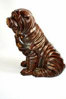 Large Early 20th Century Pottery Shih Tzu (2 of 7)