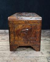 Oriental Carved Camphor Wood Chest c.1910 (9 of 12)