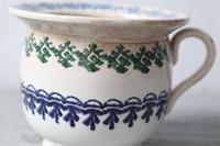 19th Century Scottish Spongeware Pottery Single Handled Porringer (25 of 29)