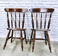 Superb Pair of Windsor Spindleback Side Chairs (4 of 6)
