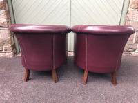 Pair of Antique Leather Gentleman's Club Armchairs (7 of 8)
