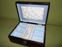 Inlaid Rosewood Jewellery Box + Tray c.1845 (12 of 12)