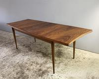 1960's British Mid Century Rosewood Extending Dining Table by Uniflex
