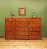 Substantial Antique Bank Of 18 Shop Drawers (2 of 25)