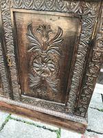 Carved Oak Adjustable Bookcase (12 of 12)