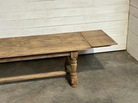 Nice Large Bleached Oak Farmhouse Dining Table With Extensions (27 of 35)