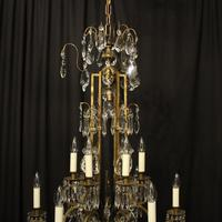 French Gilded Birdcage Antique Chandelier (9 of 10)