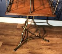 Victorian Brass & Oak Revolving Bookcase (9 of 9)