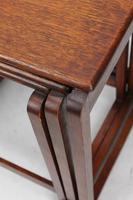 Small Art Deco Nest of Oak Tables (13 of 13)