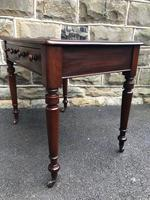 Antique Walnut Writing Library Table (4 of 8)