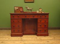 Victorian Antique Pedestal Desk, Hobbs & Co London (23 of 24)