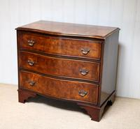 Walnut Serpentine Front Chest of Drawers (4 of 10)