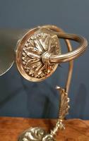 Superb Antique Brass Adjustable Desk Lamp (3 of 7)