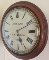 Eight Day Rare High Quality Lancs / Yorks Railway Clock (8 of 12)