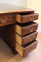 Antique Oak Partners Writing Desk (6 of 10)