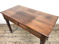 Edwardian Mahogany Two Drawer Side Table (8 of 11)