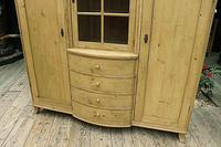 Beautiful! Rare! Old Pine Triple 'Knock Down' Wardrobe (4 of 17)