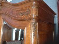 Carved Oak 2 Door  Armoire (6 of 9)