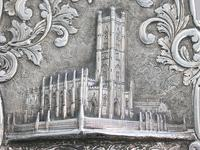 Victorian Silver Castle-top Card Case - St Luke's Church, Liverpool by Nathaniel Mills, Birmingham, 1845 (4 of 12)