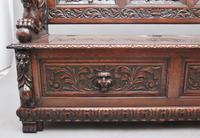 Superb Quality 19th Century Oak Box Settle (15 of 16)