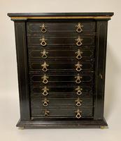 Antique Victorian Ebonised Specimen Cabinet