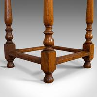 Antique Circular Occasional Table, English, Oak, Side, Lamp, Edwardian, C.1910 (7 of 12)