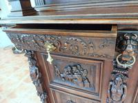 Country Oak Carved Cupboard Depicting Tavern Scenes 1800 (9 of 15)