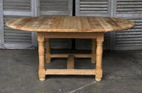 Round Farmhouse Dining Table with leaf (10 of 11)