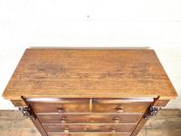 Large Victorian Oak & Mahogany Chest of Drawers (6 of 10)