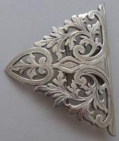 London 1902 Hallmarked Solid Silver Nurses Belt Buckle Marples & Co (3 of 8)