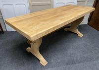 French Trestle End Refectory Farmhouse Dining Table (17 of 17)