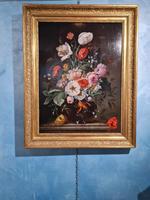 Franz Xaver Pieler Still Life, Oil on Wood