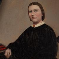19th Century Swedish School Portrait Of Maria Birgitta, Oil Painting (4 of 10)